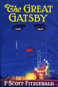 Book cover for 'The Great Gatsby' by F. Scott Fitzgerald
