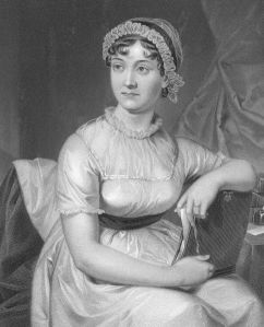 Drawing of author, Jane Austen