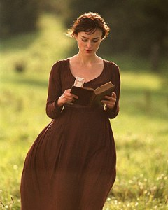 Actress Keira Knightley as Elizabeth Bennet